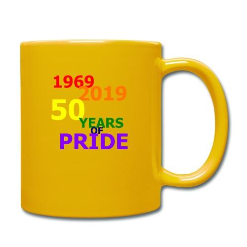 50 Jahre CSD - Tasse einfarbig