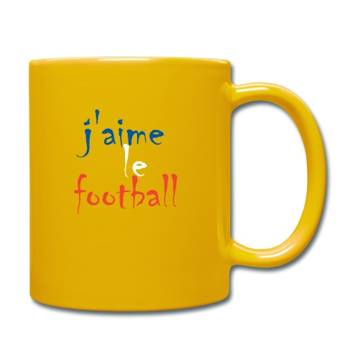 j' aime le football - Tasse einfarbig