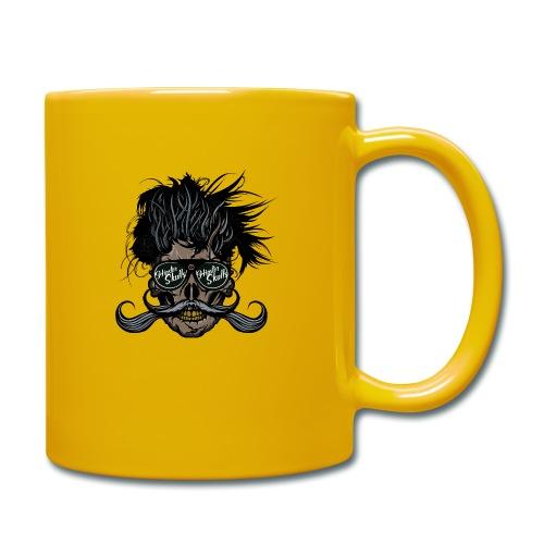 hipster skull tete de mort crane barbu moustache - Mug uni
