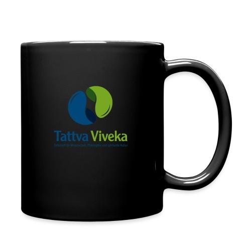 TV Logo Text unten - Tasse einfarbig