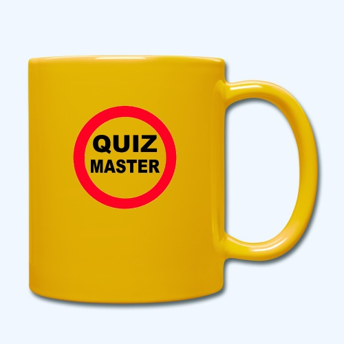 Quiz Master Stop Sign - Full Colour Mug