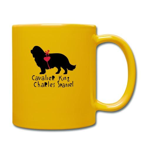 Cavalier Silhouette - Tasse einfarbig