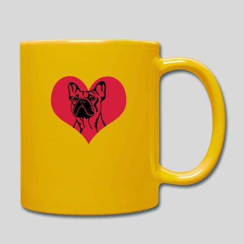 FranzBulldogge im Herz - Tasse einfarbig