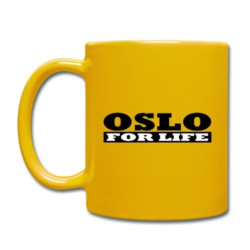 Oslo fürs Leben - Tasse einfarbig