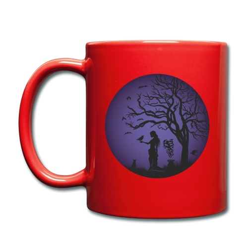 Halloween Silhouette Lila - Tasse einfarbig