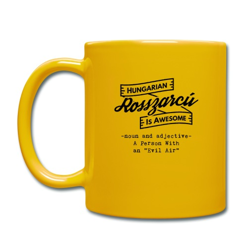 Rosszarcú - Hungarian is Awesome (black fonts) - Full Colour Mug