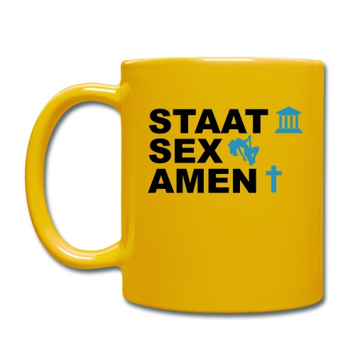Staatsexamen / Staat Sex Amen - Tasse einfarbig