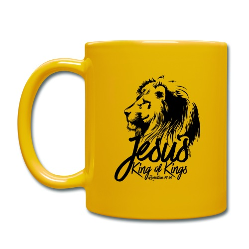 LION - JESUS KING OF KINGS // Black - Full Colour Mug