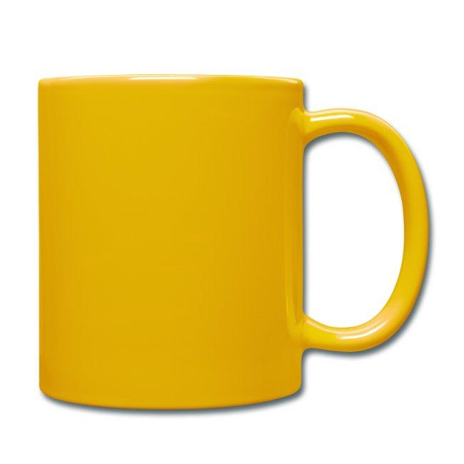 Vorschau: irgendwos hods oiwei - Tasse einfarbig