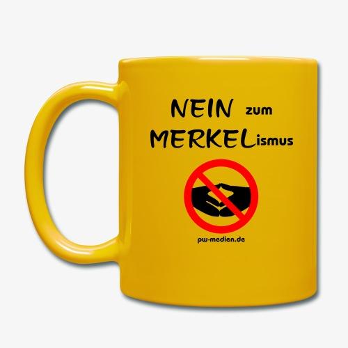 NEIN zum MERKELismus - Tasse einfarbig