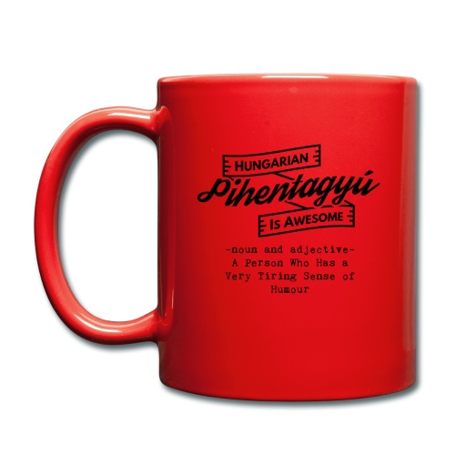 Pientagyu - Hungarian is Awesome (black fonts) - Full Colour Mug
