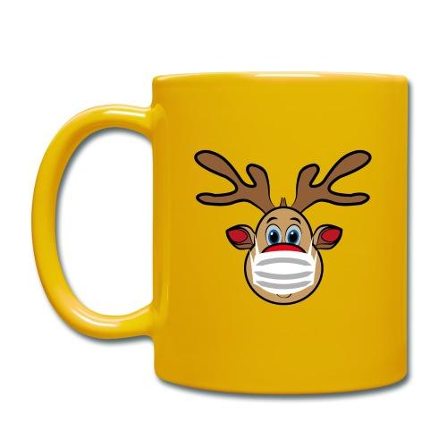 Ugly Xmas Rudi Reindeer mit Maske - Tasse einfarbig