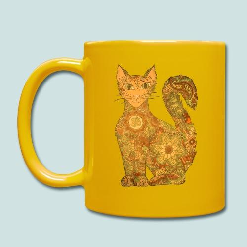 Seelenkatze gelb - Tasse einfarbig