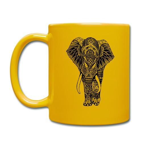 Good Luck Mandala Elephant Designer Animal Love - Full Colour Mug
