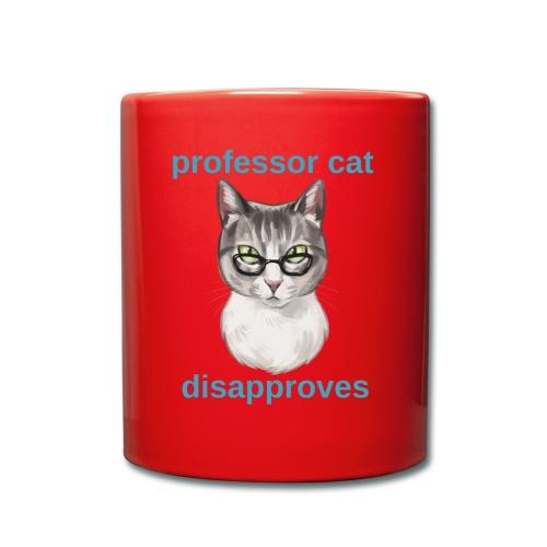 Professor Cat - Tasse einfarbig