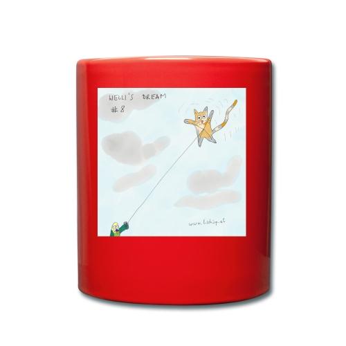 Katze Drachensteigen - Tasse einfarbig
