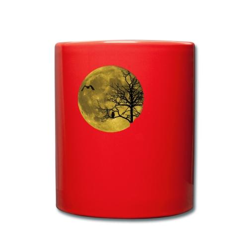 Vollmond Eule - Tasse einfarbig