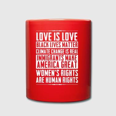 Liebe ist Liebe Schwarz lebt Materie Klimawandel - Tasse einfarbig