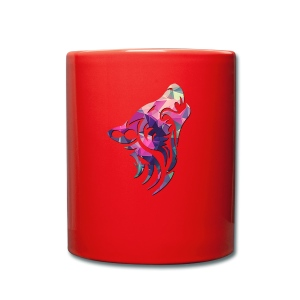 Wolf logo rainbow - Full Colour Mug