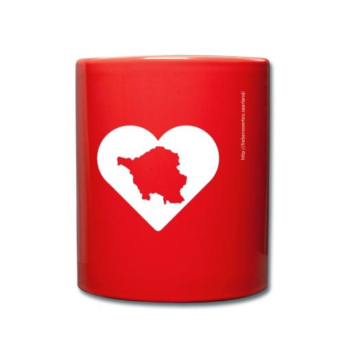LWS Herz groß - Tasse einfarbig
