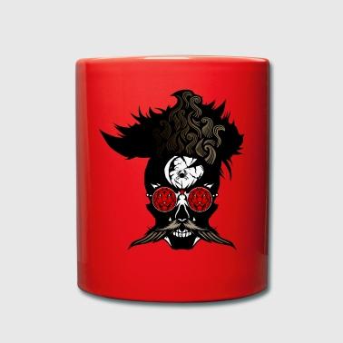 head of death hipster skull mustache bezel lion - Full Colour Mug