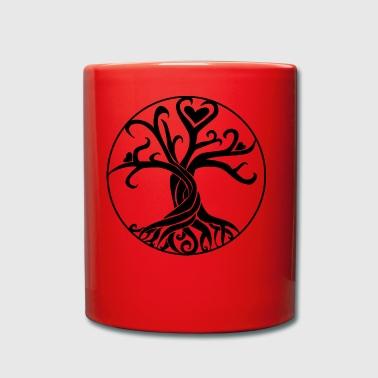 idée cadeau arbre de vie Noir - Tasse en couleur