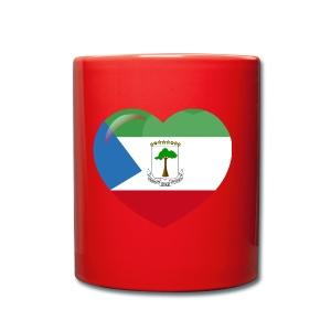 Mi corazón es de Guinea Ecuatorial - Taza de un color