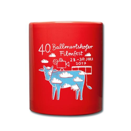 170415 B Filmfest Kuh weisse Schrift png - Tasse einfarbig