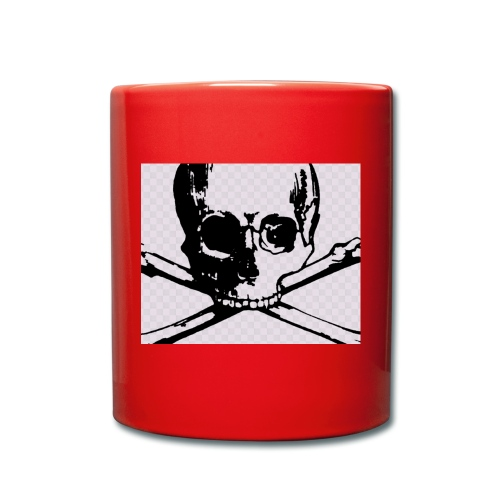 skull and crossbones - Full Colour Mug