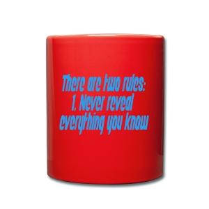 Two rules - Ensfarget kopp