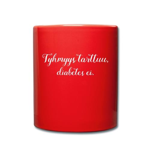 Tyhmyys tarttuu, diabetes ei - Yksivärinen muki