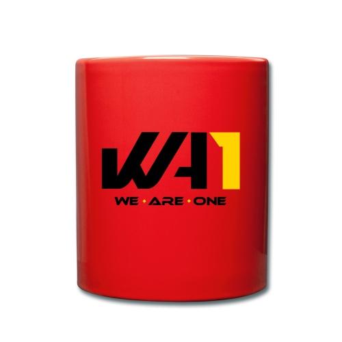 Wir sind eins (schwarze Schrift) - Tasse einfarbig