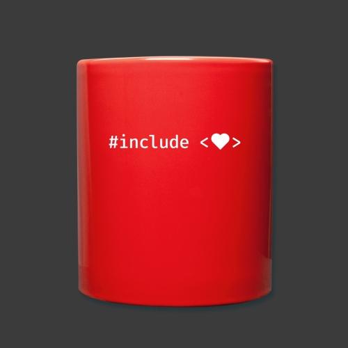 White Include Heart - Full Colour Mug