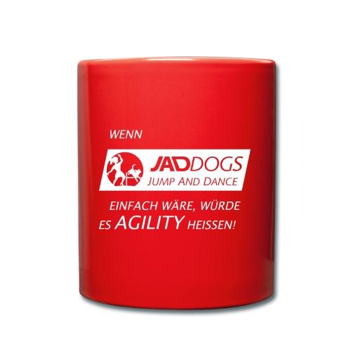 JAD DOGS vs. Agility - Tasse einfarbig