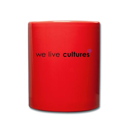 we live cultures - grau & magenta - Tasse einfarbig
