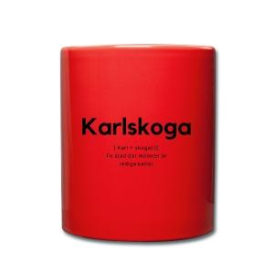 Karlskoga - Enfärgad mugg