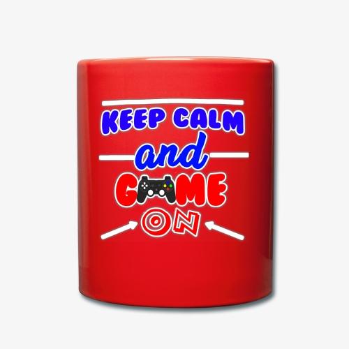 Keep Calm And Game ON - Enfärgad mugg