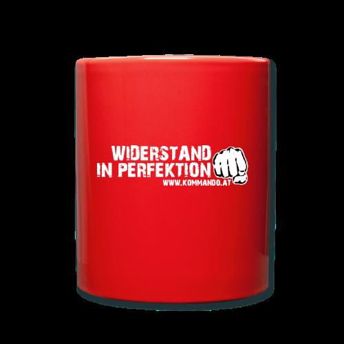 Widerstand in Perfektion - Tasse einfarbig
