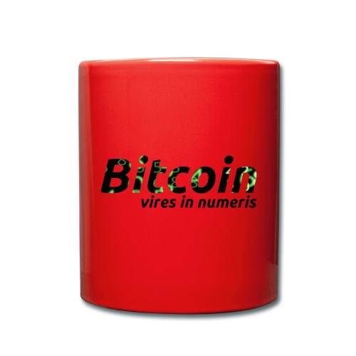 Bitcoin Matrix: Vires in numeris(Bitcoin Geschenk) - Tasse einfarbig