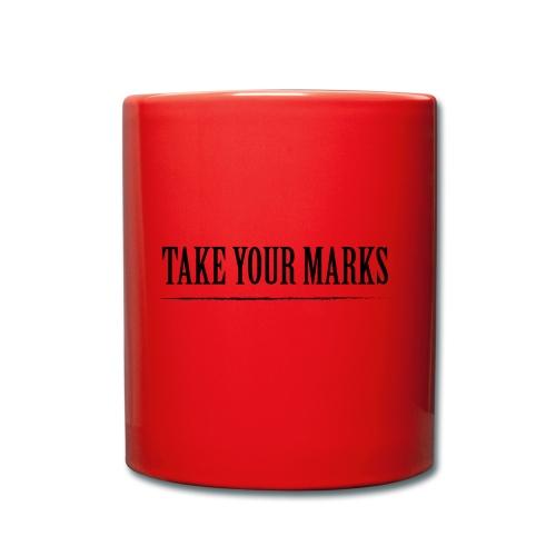 TAKE YOUR MARKS - Tazza monocolore