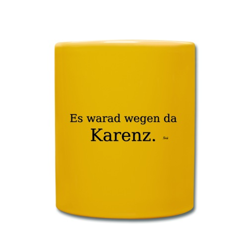 Karenz - Tasse einfarbig