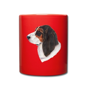 bassethound color - Ensfarvet krus