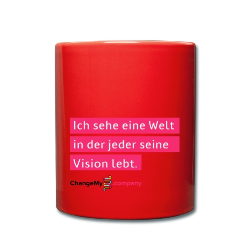ChangeMy.Company Vision Branding - Tasse einfarbig