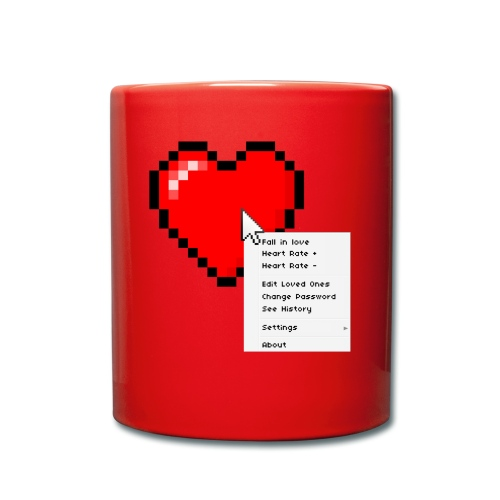 Options of the heart on a mug - Ensfarvet krus