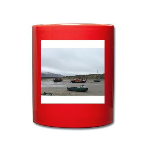 boats on barmouth beach - Full Colour Mug