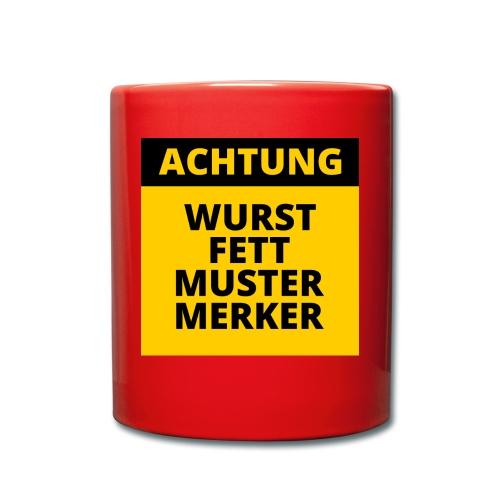 Achtung - Wurstfett! - Taza de un color