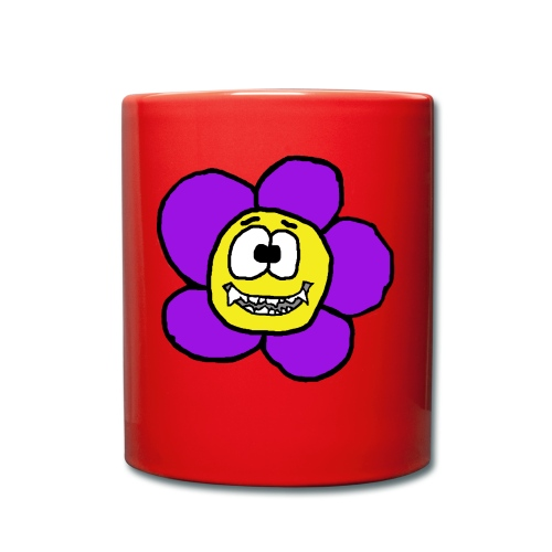 Blume mit Zähnen von roadtripgirl.ch - Tasse einfarbig