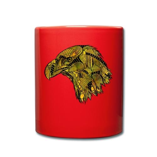 Gul ørn - Ensfarget kopp