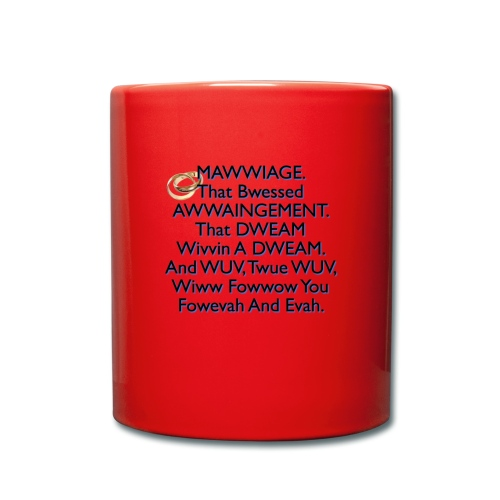 Mawwiage (blue) - Full Colour Mug