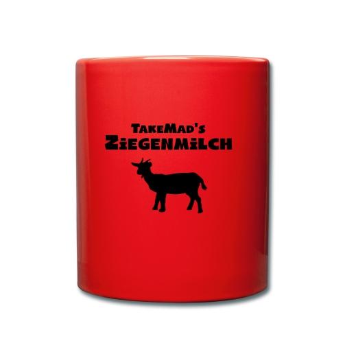 Ziegenmilch Beschriftung - Tasse einfarbig